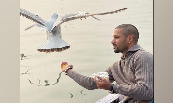 Dhawan shares pics feeding birds from boat, Varanasi DM orders action against boatmen