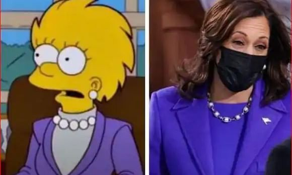 Are 'The Simpsons' right again? Fans think the show predicted Kamala Harris' purple inauguration outfit