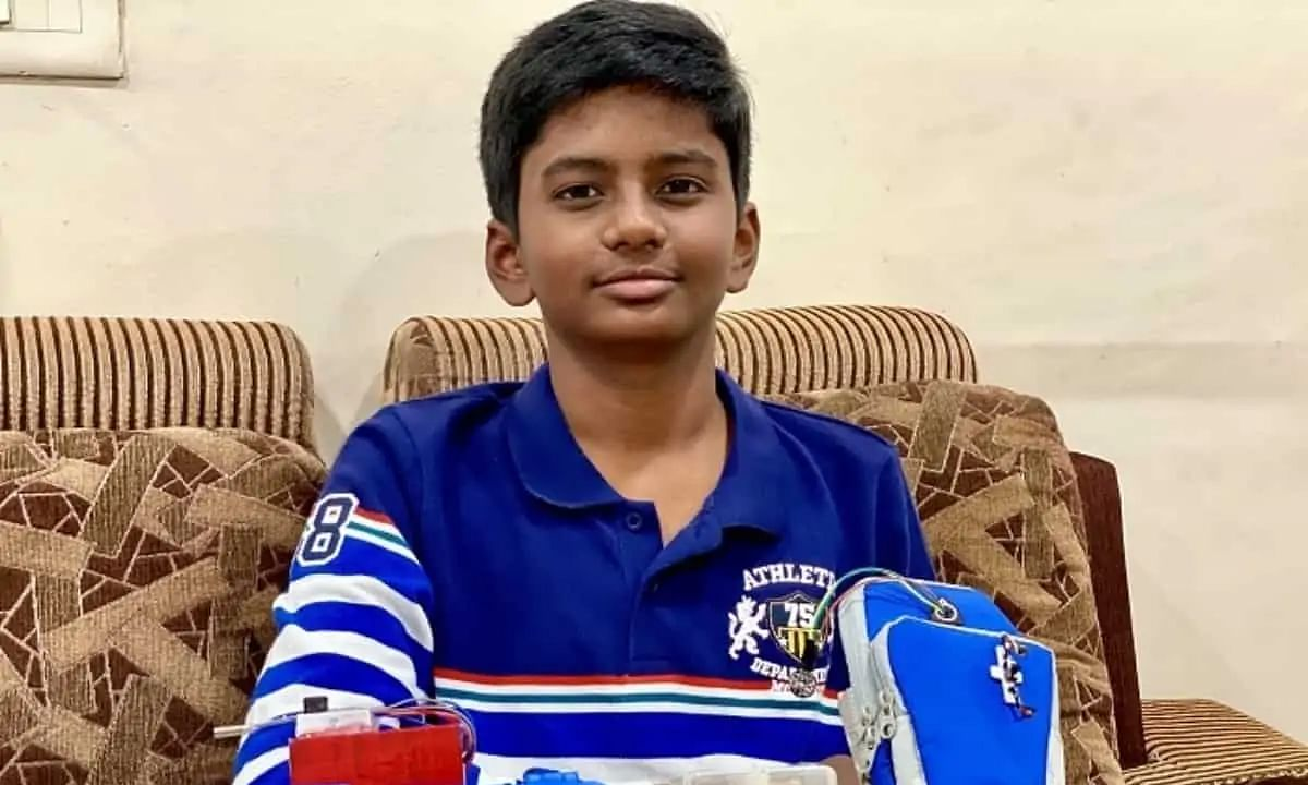 14-yr-old Hyderabad boy wins national award for his innovative device