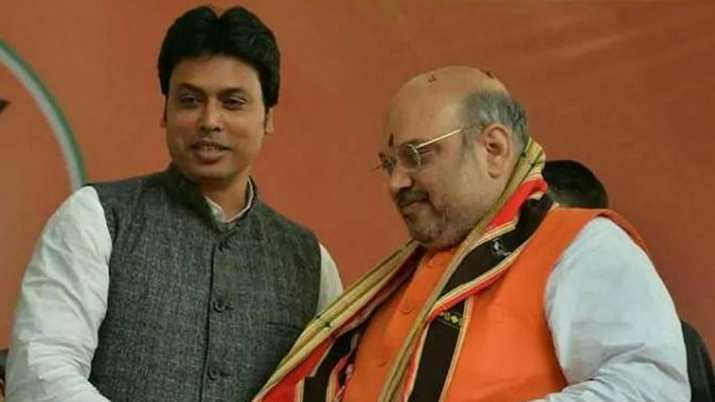 Tripura CM Biplab Deb claims Amit Shah  has plans to expand BJP beyond Indian borders