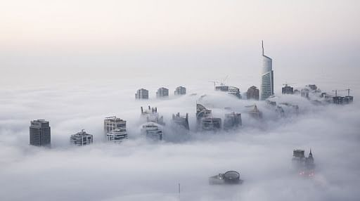 Dhs500 and 4 black points for trucks and buses moving during fog in Abu Dhabi