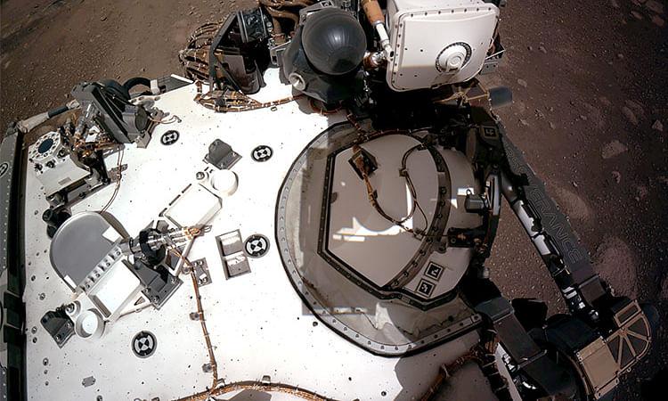 Video: Nasa reveals 'awe-inspiring' video of Perseverance rover's Mars landing
