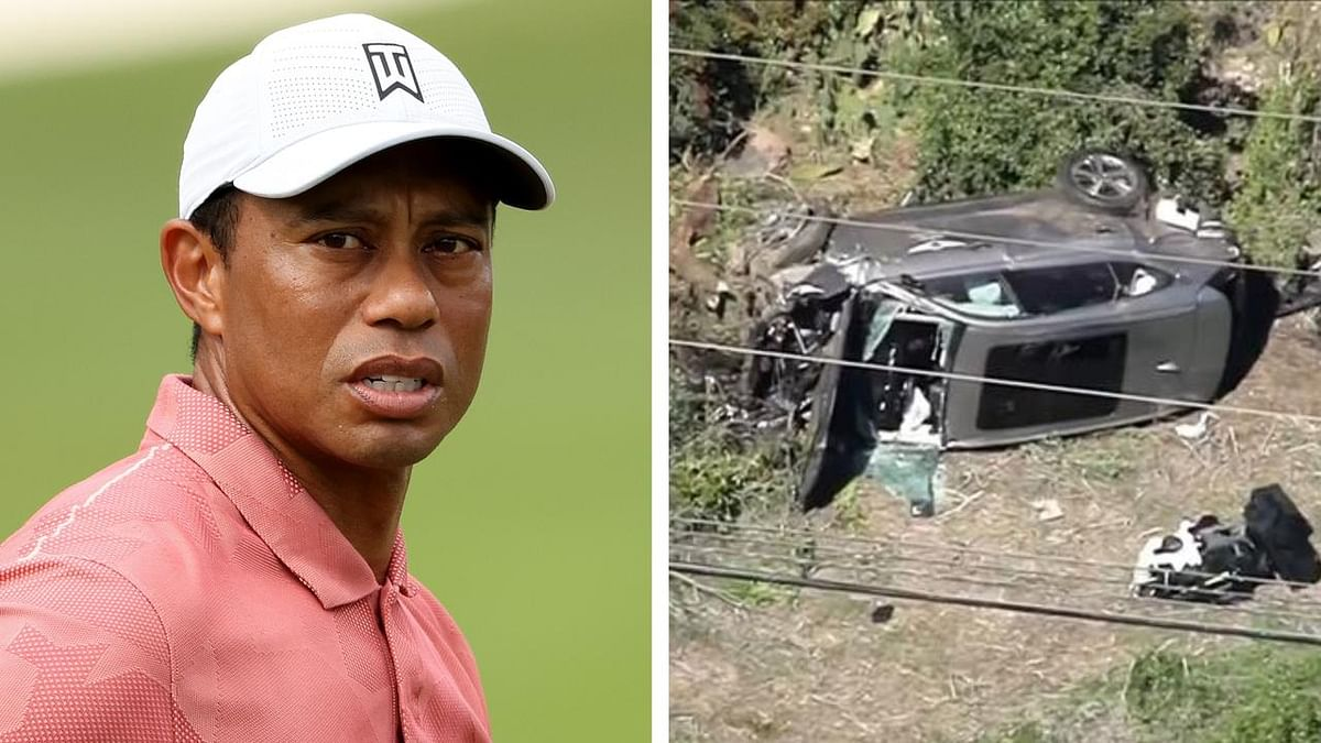 Golfer Tiger Woods suffers severe injuries in a car crash