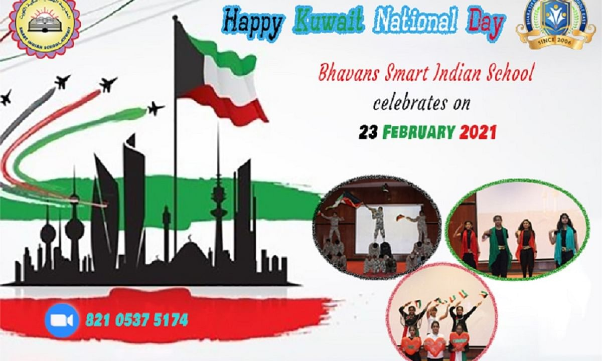 Bhavans SIS wishes Happy 60th Kuwait National Day 2021