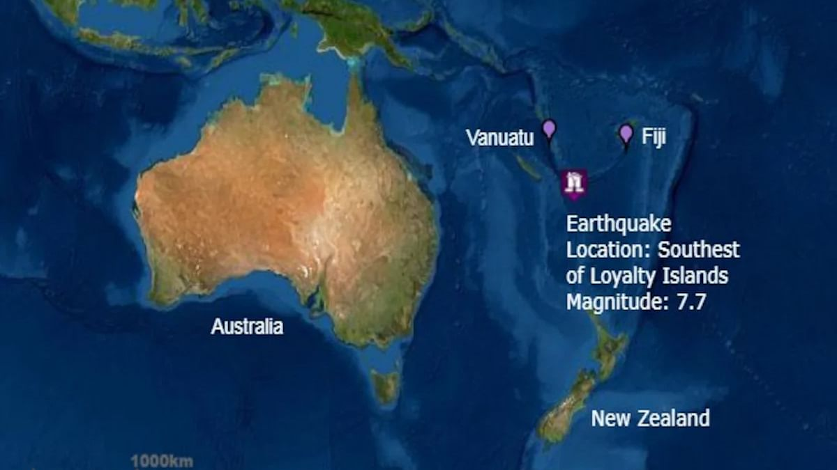 Tsunami confirmed by Australian agency after 7.7 magnitude earthquake in South Pacific