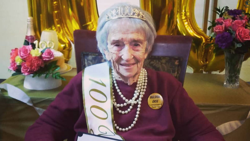 Delightful video: 'Dancing queen': Woman does the celebratory dance to ring in her 100th birthday