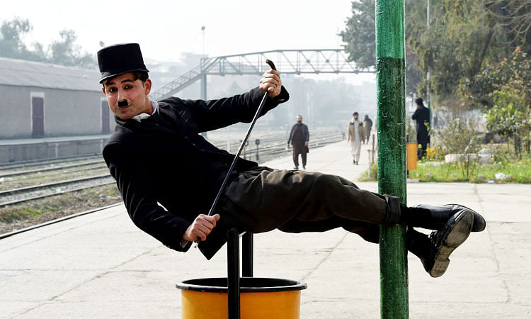 Pakistan's 'Charlie Chaplin' bringing laughs to frontier city