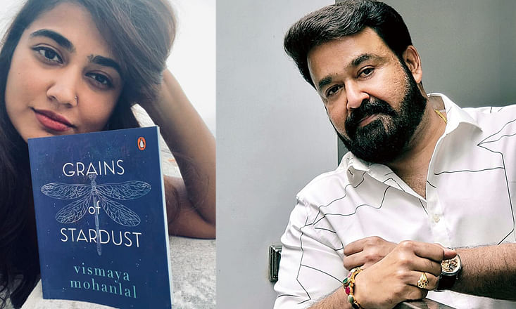 Proud Mohanlal announces book release of daughter's 'Grains of stardust'