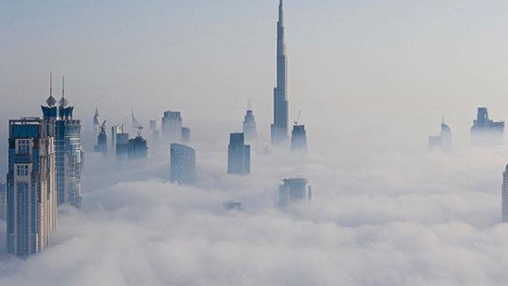 Sheikh Hamdan shares video of Burj Khalifa submerged in fog