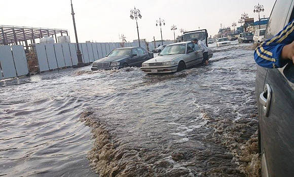 Widespread showers of hail in Kalba