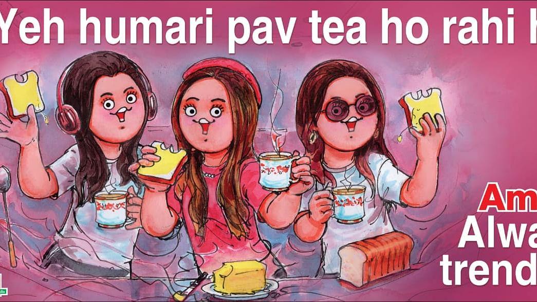 'Yeh humari pav tea ho rahi hai': Amul dedicates its new topical ad to 'pawri' girl Dananeer Mobeen