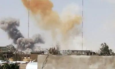 Saudi-led coalition strikes Houthi military site in Yemen