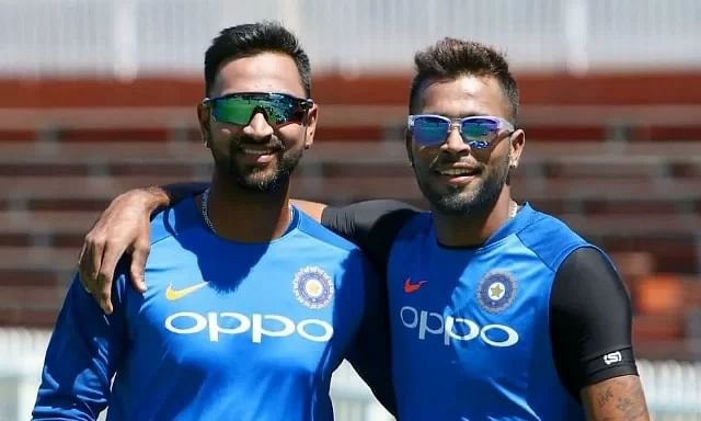 Which pairs of brothers have played for India together in ODI cricket?
