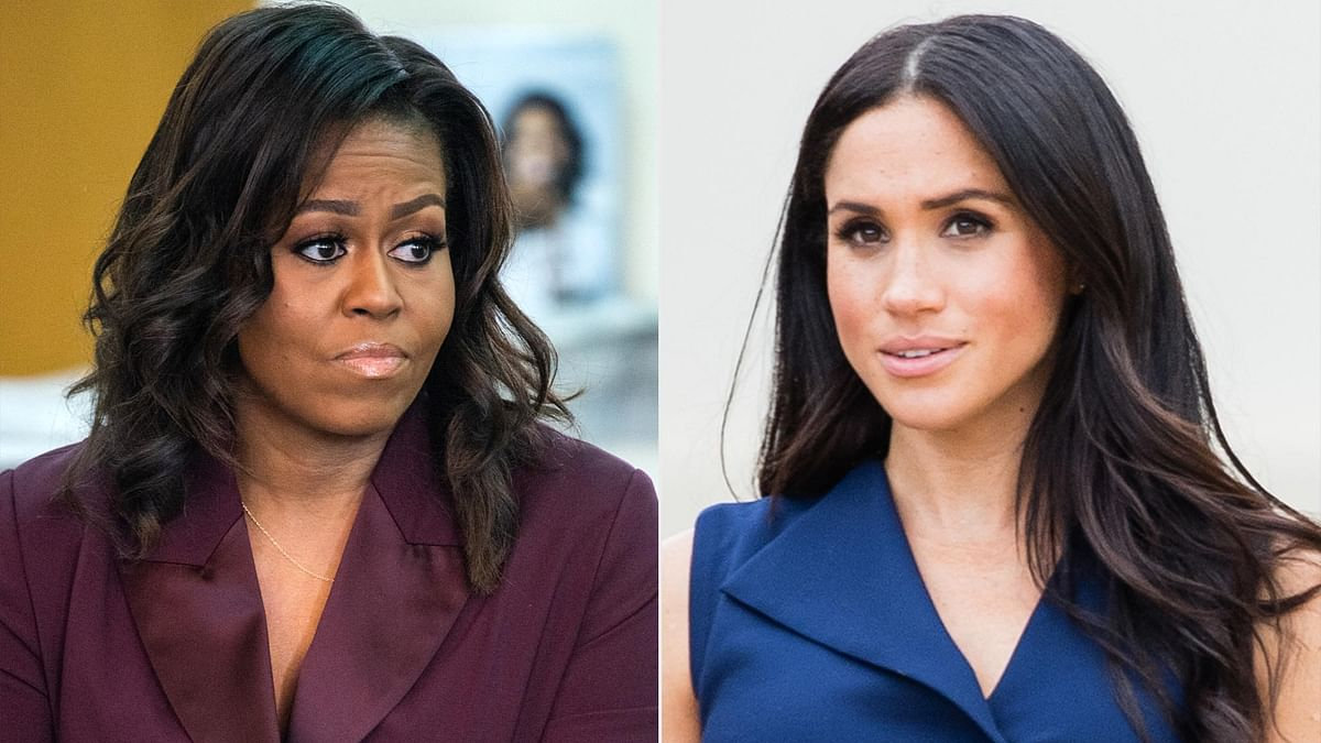 Michelle Obama weighs in on Meghan and Harry's royal family fall out