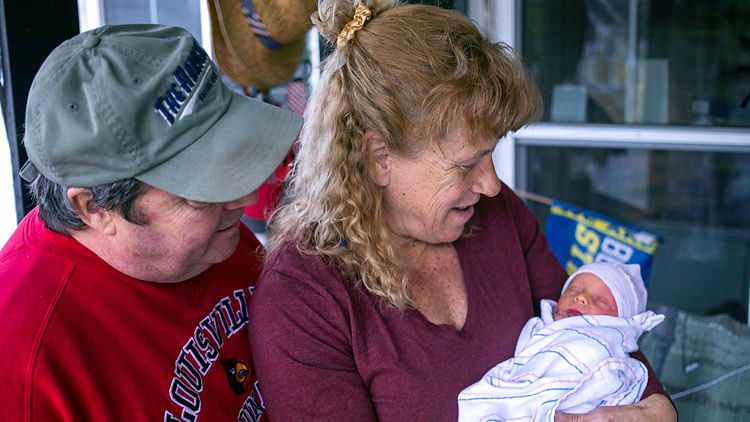 Woman who lost child to brain tumour gives birth at 57