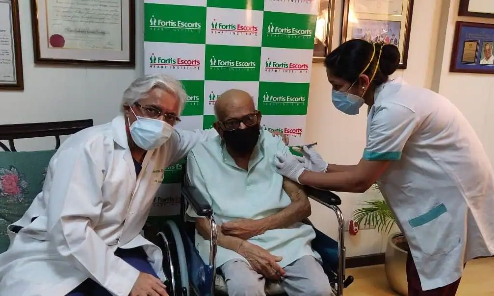 107-year-old Kewal Krishan becomes India's oldest person to receive Covid-19 vaccine