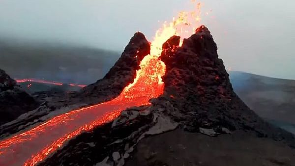Not Mordor! A real drone footage of Iceland's Fagradalsfjall volcano that erupted after 800 years