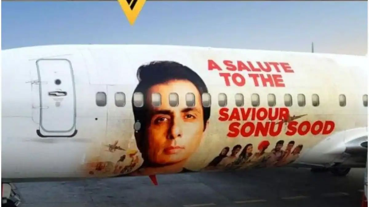 Sonu Sood features on SpiceJet's Boeing 737, airline salutes messiah wrapped in special livery