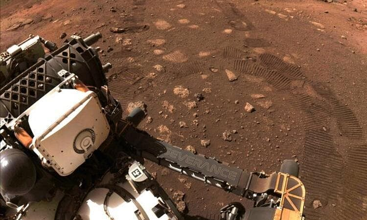 NASA's Mars rover takes its first drive on the Red planet