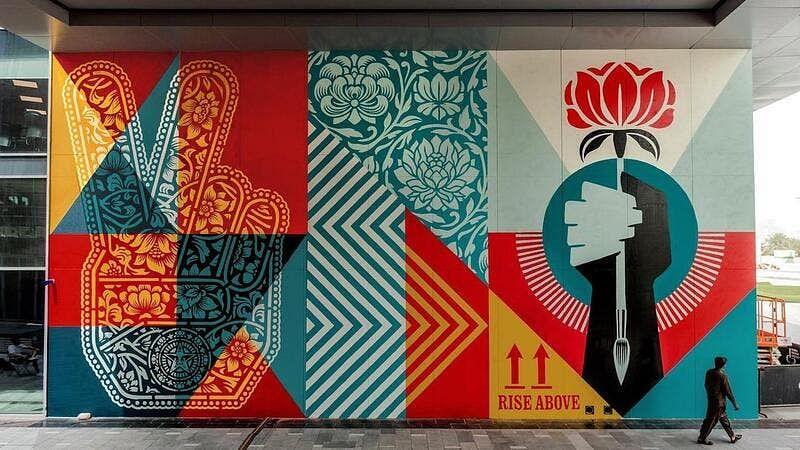 Famous US street artist pays homage to Dubai!