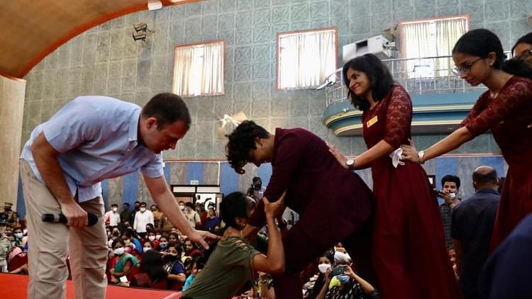 Rahul teaches Japanese martial art to Kerala college women; video surfaces