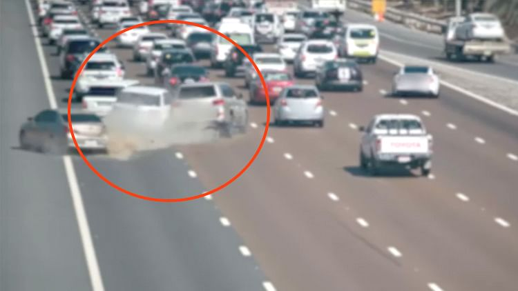 Abu Dhabi Police share horrific accident video of speeding motorist