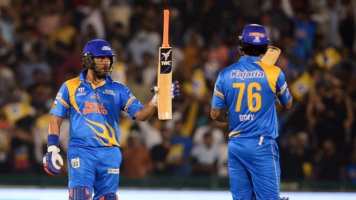 Video: Yuvraj Singh smashes four sixes in a row in Road Safety World Series 2020-21
