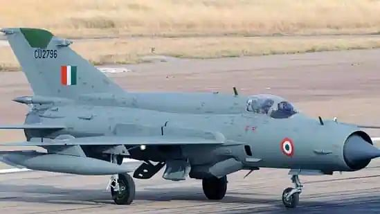 IAF pilot killed after MiG-21 Bison aircraft crashes while taking off at an airbase