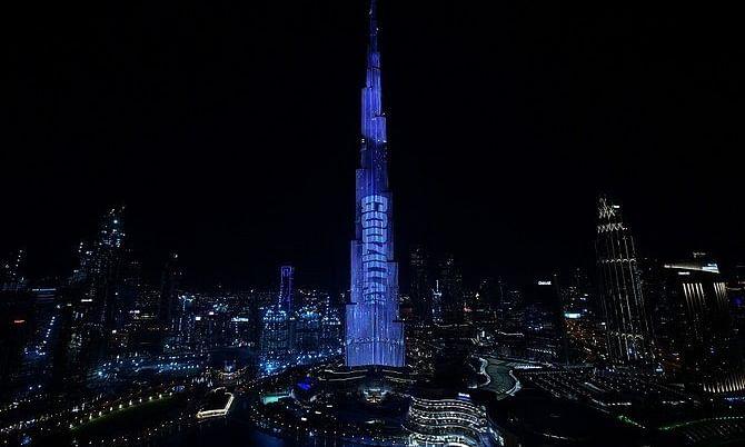 Moving GODZILLA VS KONG Promos Take Over Burj Khalifa Tower and the Dubai Fountains in the United Arab Emirates