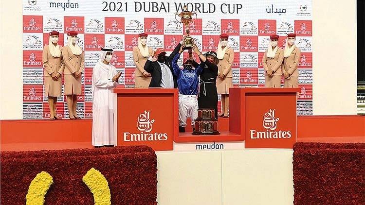 Godolphin's Mystic Guide masters rivals in $12 million Dubai World Cup