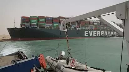 All crew members of the cargo ship that has blocked Suez Canal are Indians