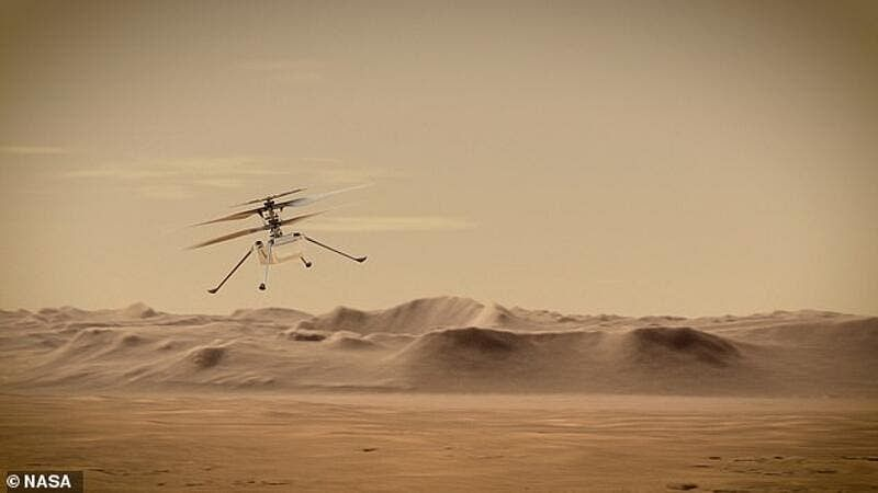NASA's 1.8-kg Mars helicopter survives first cold night on the red planet on its own