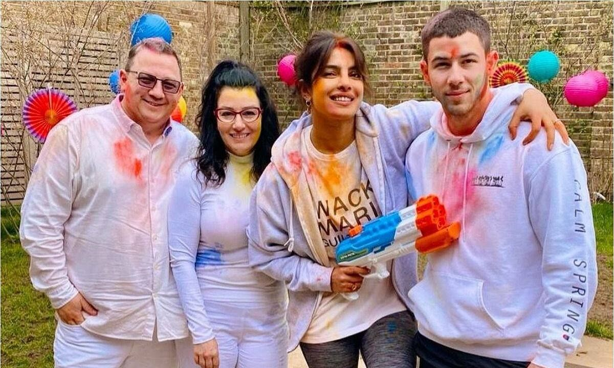 Priyanka Chopra Jonas shares pictures from her 'in home' holi celebrations with Nick and family