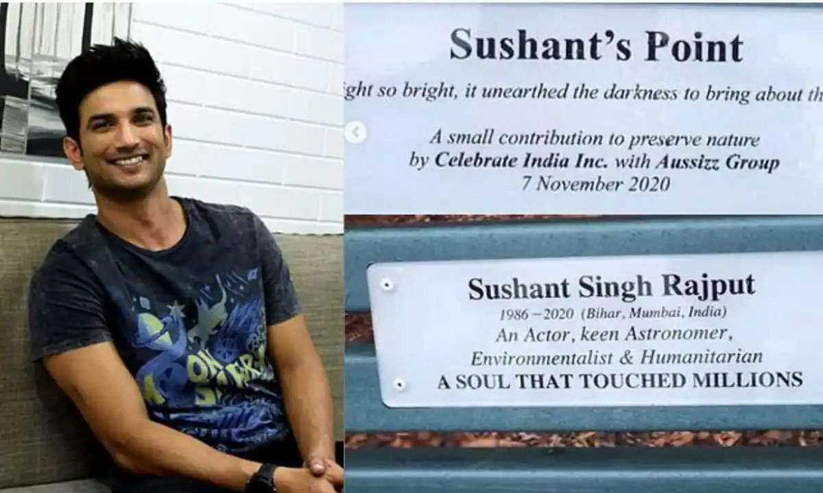 In loving memory of Sushant Singh Rajput, benches in Australia's park named after late actor