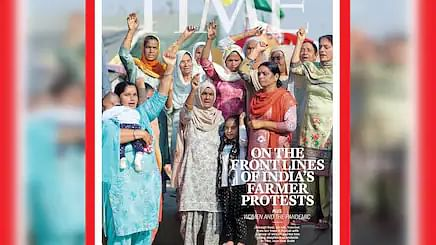 TIME Magazine cover features women at the frontline of farmers' protests