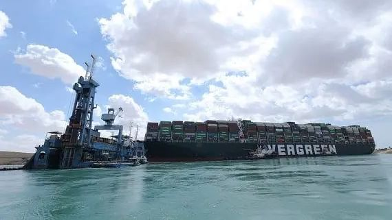 Giant container ship stuck in Egypt's Suez Canal floats again