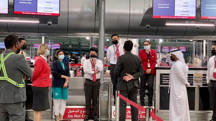 Sharjah welcomes Pakistan's new airline SereneAir's maiden flight