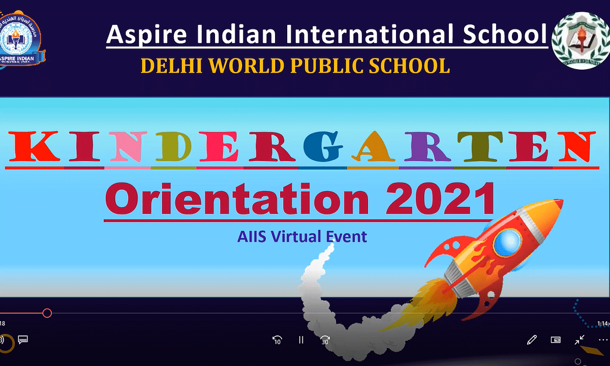 Welcoming the Parent Community to the Aspire Indian International School- Kindergarten Wing