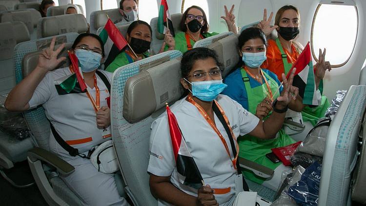 Milestone flight EK2021 highlights UAE's impressive vaccination drive