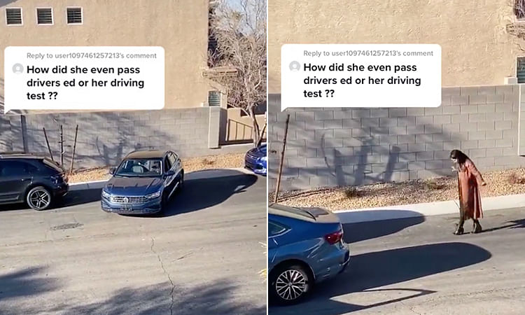 See how an angel turns devil in a moment in this hilarious parallel parking video