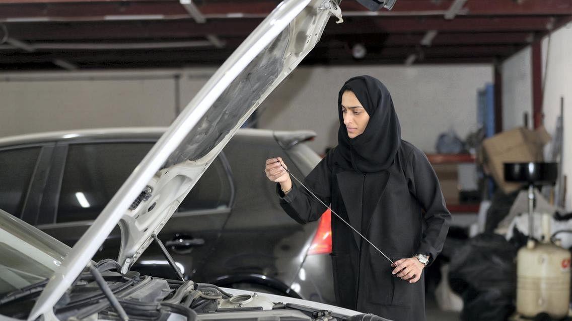 Meet Sharjah's first female Emirati car mechanic
