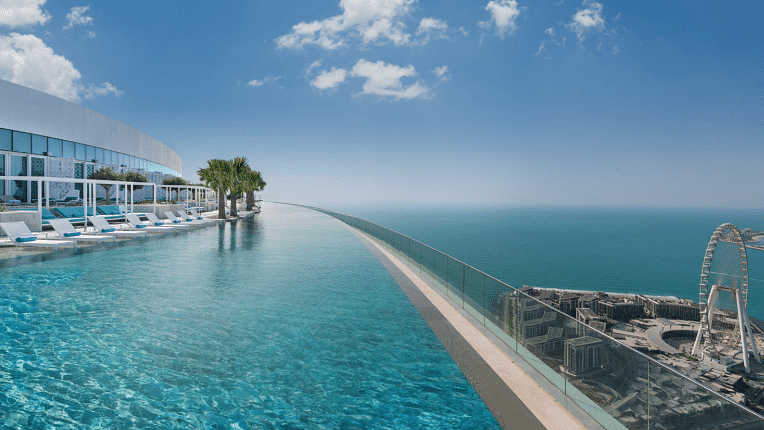 Dubai's new infinity pool has an enticing record-breaking title