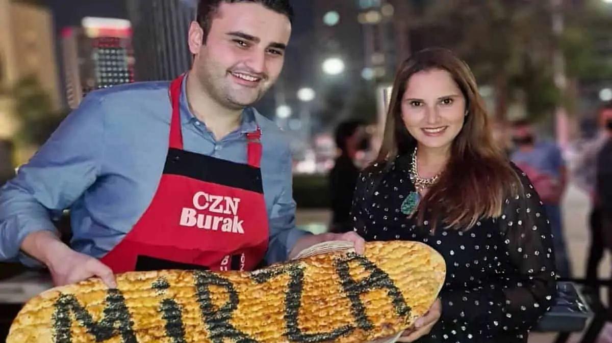 Sania Mirza meets CZNBurak in Dubai; receives his signature bread