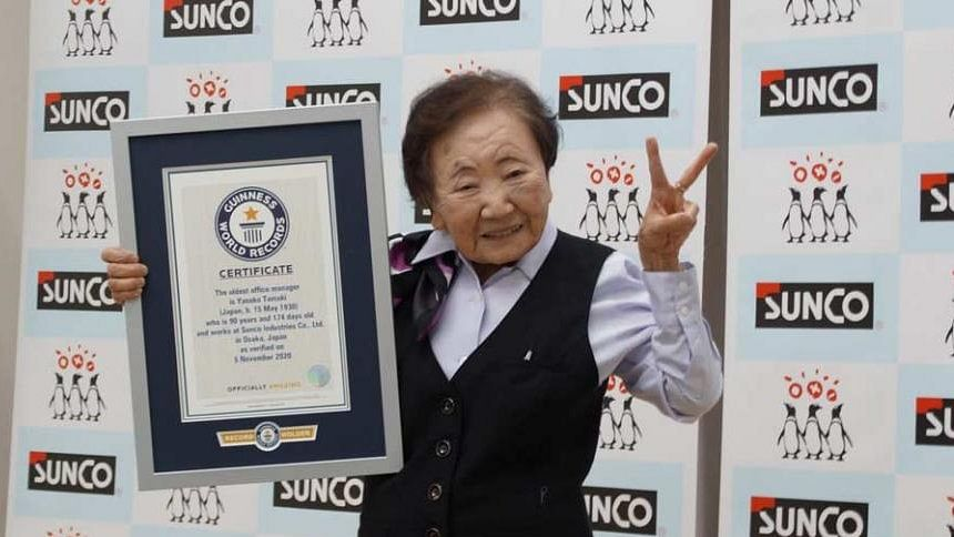 90-year-old Japanese woman is world's oldest office manager