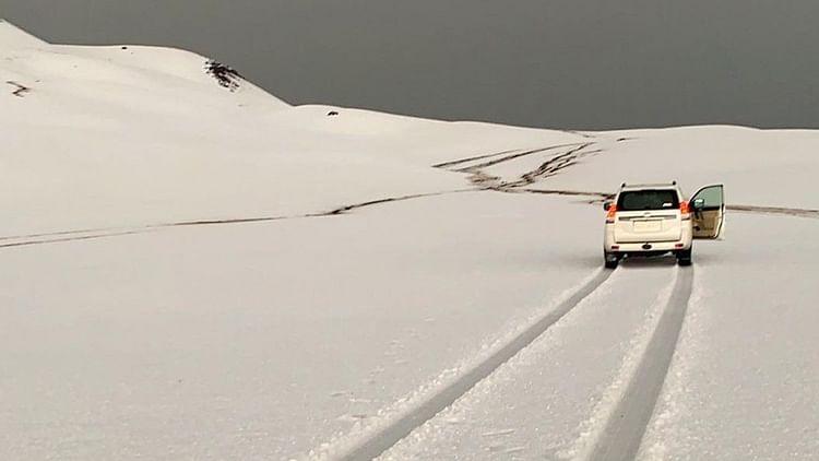 Snow covers southern Saudi Arabia