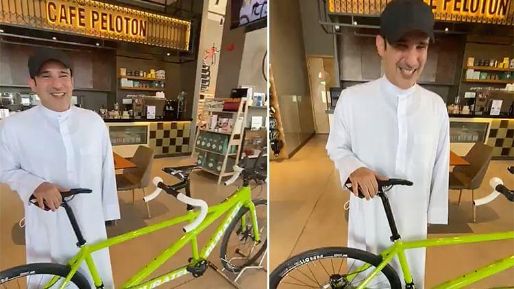 Sheikh Hamdan gifts special bike to Emirati man