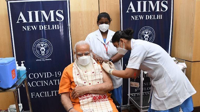 Modi takes 2nd dose of COVID-19 vaccine
