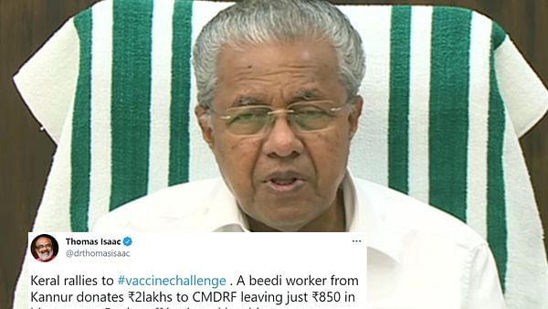 Beedi worker from Kannur donates ₹2 lakh to CMRDF for Kerala's COVID-19 vaccine, left with just ₹850