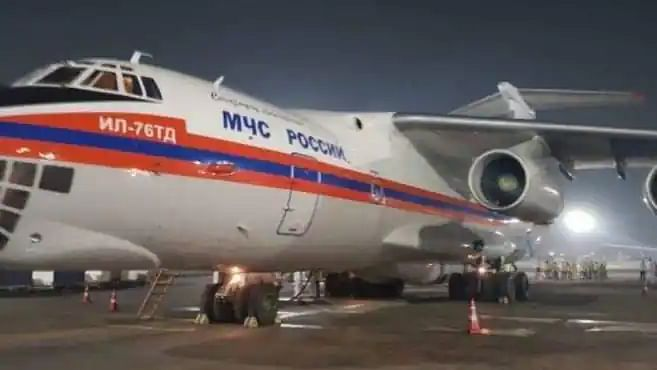 2 Russian flights with 20 oxygen concentrators, 75 ventilators & essential items land at Delhi Airport