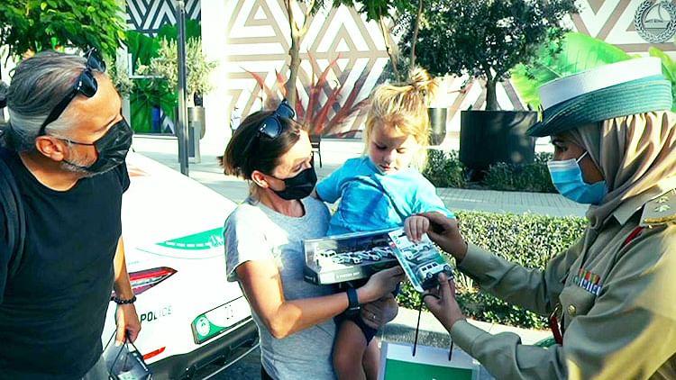 Dubai Police fulfil child's dream to ride in luxury police patrol
